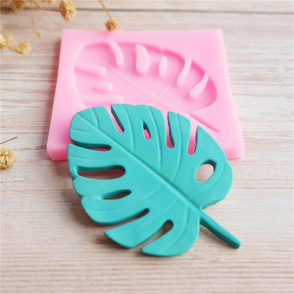 Leaf Shape 3D Silicone Monstera Palm Fern Mold Turtle Leaf  Fondant Cake Decorating Tools Cupcake Sugarcraft Chocolate Molds