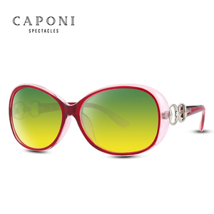Image 3 - Женские поляризационные солнцезащитные очки CAPONI, оверсайз солнцезащитные очки в форме бабочки для вождения днем и ночью, RY2115