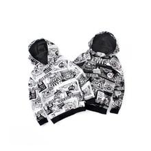 Harajuku Hoodie Clothing Boys Sweatshirts Teenagers Prints Fashion Autumn for Letter