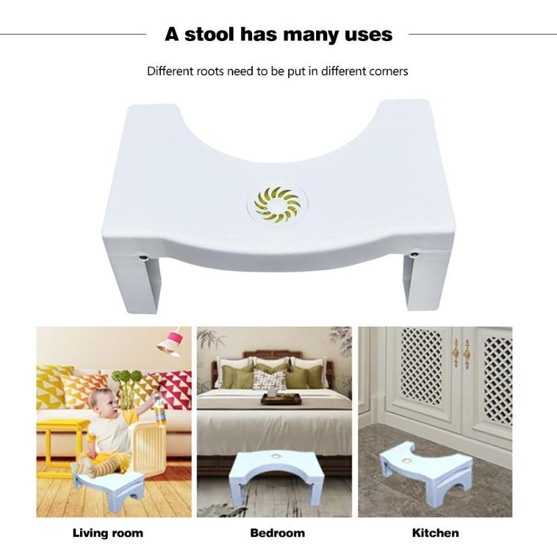 Foldable Squatting Stool Non-slip Toilet Footstool Anti Constipation Stools Bathroom Shower Seat Toilet Foot Stool Home Supplies