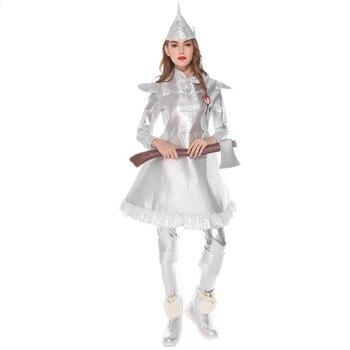 Disfraz del Mago de OZ, el hombre de hojalata, mujer adulta, disfraz de cuento de hadas de Halloween, disfraz de escenario actuación