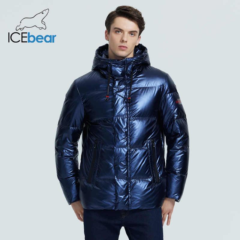 ICEbear 2020 가을/겨울 신사복 후드 캐주얼 다운 재킷 두껍고 따뜻한 남성용 겨울 의류 MWY20867D