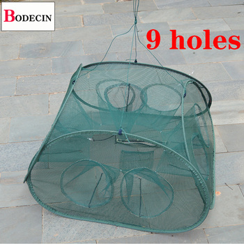 Best 5/9/21 Inlets Crab/Fish/Eel/Lobster Trap Mesh Fishing Accessories cb5feb1b7314637725a2e7: 21 Inlets|5 Inlets|9 Inlets