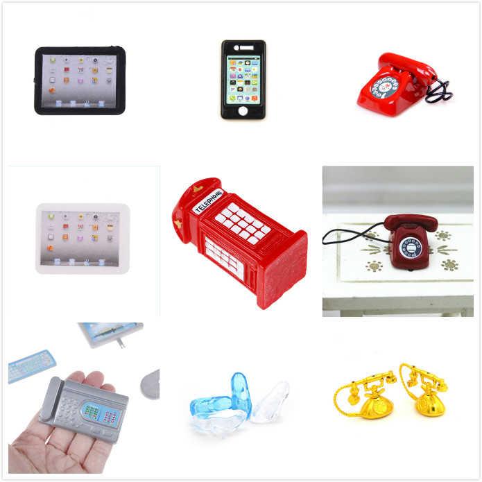 2020 1:12 Dijual Skala Komputer Laptop Mainan Rumah Boneka Miniatur Mainan Boneka Dapur Ruang Tamu Dekorasi Aksesoris