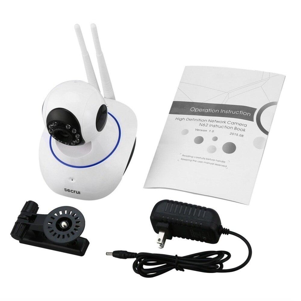 SECRUI N62 caméra réseau sans fil 720P HD WiFi caméra IP Webcam caméra de sécurité à domicile Surveillance PnP P2P APP panoramique inclinaison IR coupe