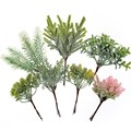 6 pcs/bundle artificial plant grass pine for diy wedding wreath Christmas garland home decoration accessories artificial flowers