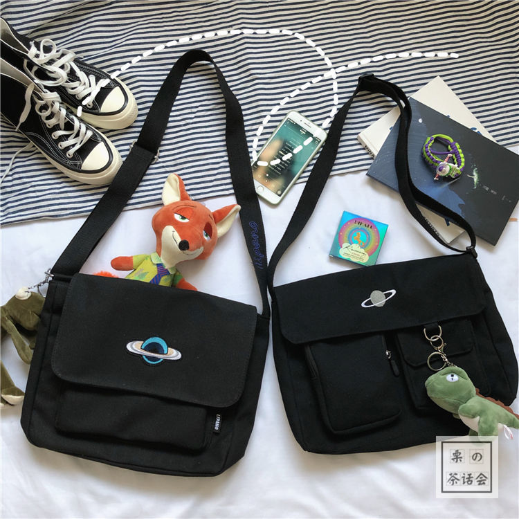 Large-capacity handbag 2019 new tide Messenger bag female fashion wild ins casual shoulder students class canvas bag