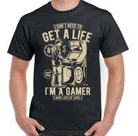 I Don't Need To Get A Life I'm A Gamer Mens Funny Gaming T Shirt PC PS4 Xbox 2019 fashion t shirt mens tee shirts 2019 hot tees