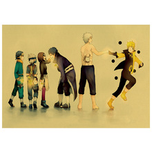 Anime Naruto Kraft Paper Poster Home Wall Sticker Art Deco Painting Room Restaurant Picture 50.5x35cm anime naruto kraft paper poster home wall sticker decoration painting room restaurant picture art painting painting