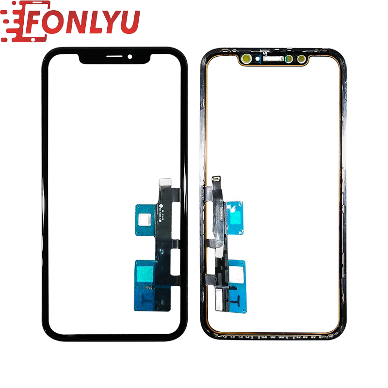 Touch Screen Digitizer With Touch Panel Frame Flex Cable For IPhone XR LCD Screen External Outer Glass Replacement