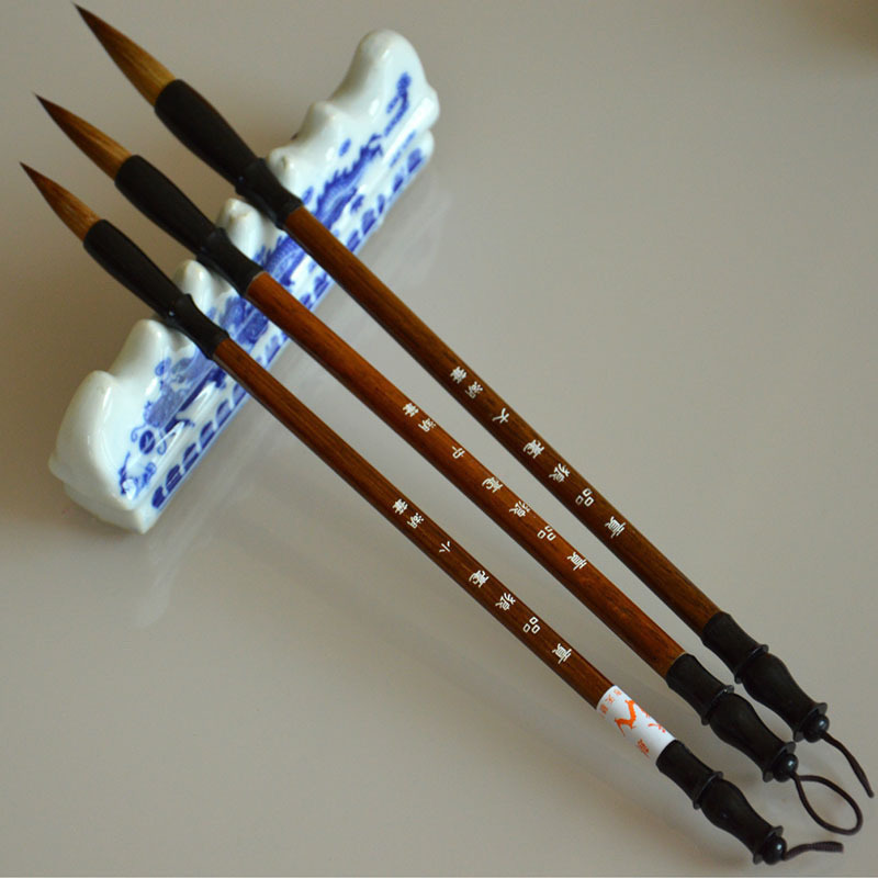 Chinese-Calligraphy Brushes-Pen Weasel-Hair Writing-Brush for Woolen And Fit-For Student