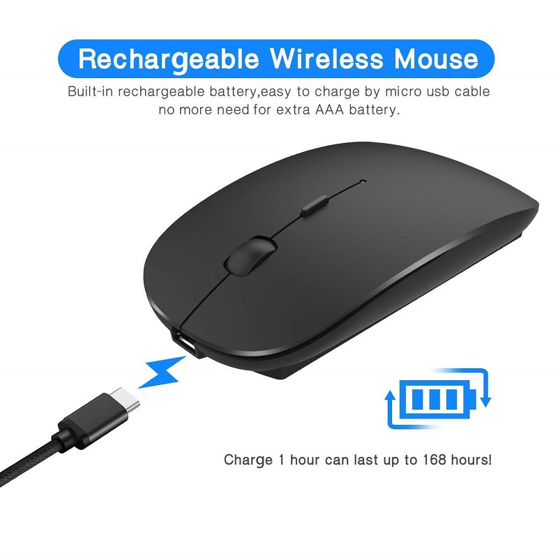 Rechargeable Wireless Keyboard and Mouse 4