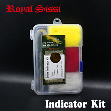 RoyalSissi new developed fly fishing strike indicator tool kit wool indicator with tubing&threader tools fly fishing accessories