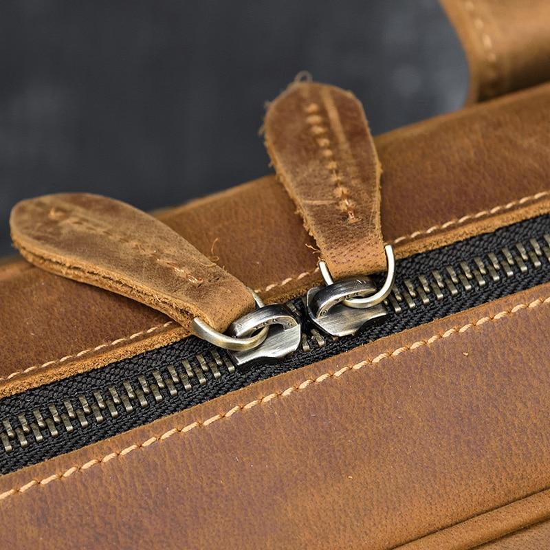 "Hfc6324748b94490bbb1562044c1af1deH MAHEU Men Briefcase Genuine Leather Laptop Bag 15.6"" PC Doctor Lawyer Computer Bag Cowhide Male Briefcase Cow Leather Men Bag"