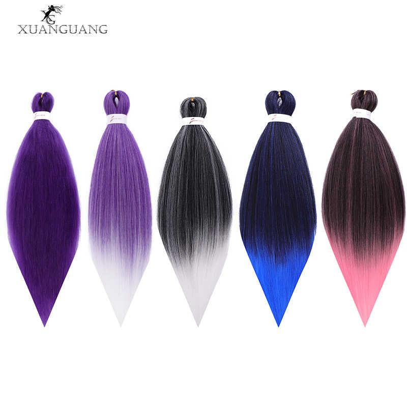 Xuangung peruca de cabelo de crochê, extensão de cabelo de 26 polegadas 100g africano, fácil de xadrez