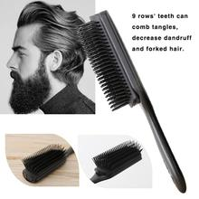 Hair Comb 9 Row Styling Brush Nylon Hair Brush Fashion Men Hair Brush Plastic Antistatic Comb Barber Dressing Salon Styling Tool все цены