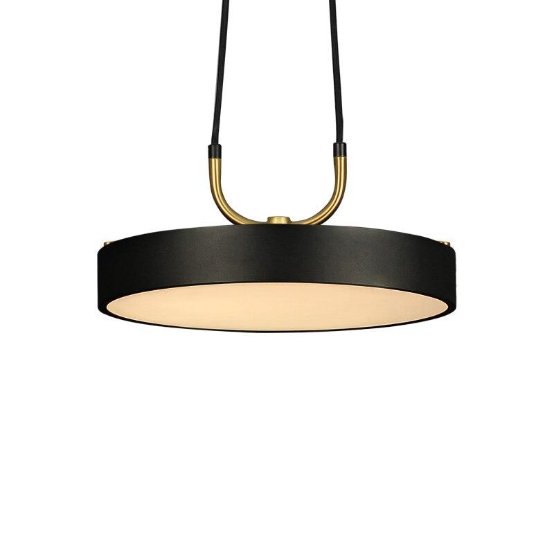 Aisilan светодиодный подвесной светильник, лампа в скандинавском стиле, подвесной круглый современный светильник для кабинета, столовой, кафе-...