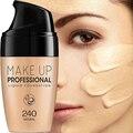 Профессиональная жидкая основа для макияжа с полным покрытием, основа для макияжа, консилер натурального цвета, отбеливающий стойкий Прайм...
