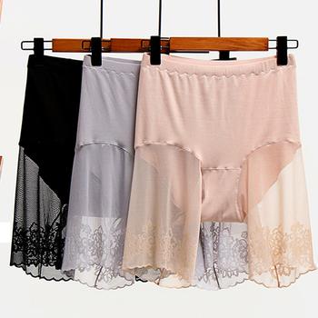 Szorty w dużych rozmiarach pod spódnicą seksowne koronkowe spodenki zabezpieczające uda spodenki zabezpieczające spodnie damskie bielizna duże rozmiary spodnie ochronne damskie tanie i dobre opinie OYMQICH spandex COTTON CN (pochodzenie) Bezszwowy INVISIBLE oddychająca Krótkie spodenki ochronne WOMEN High waist Lace