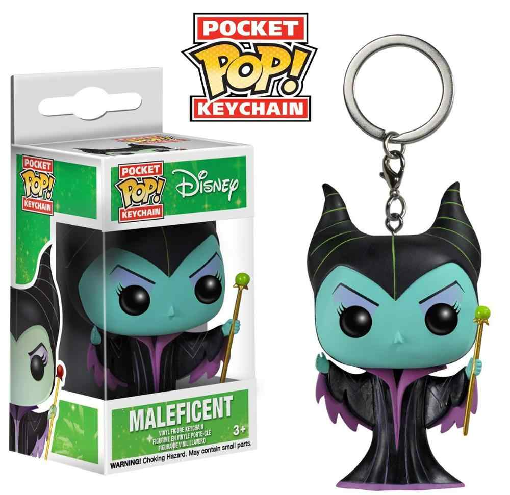 Funko pocket pop maleficent chaveiro mistress do mal figura de ação brinquedo