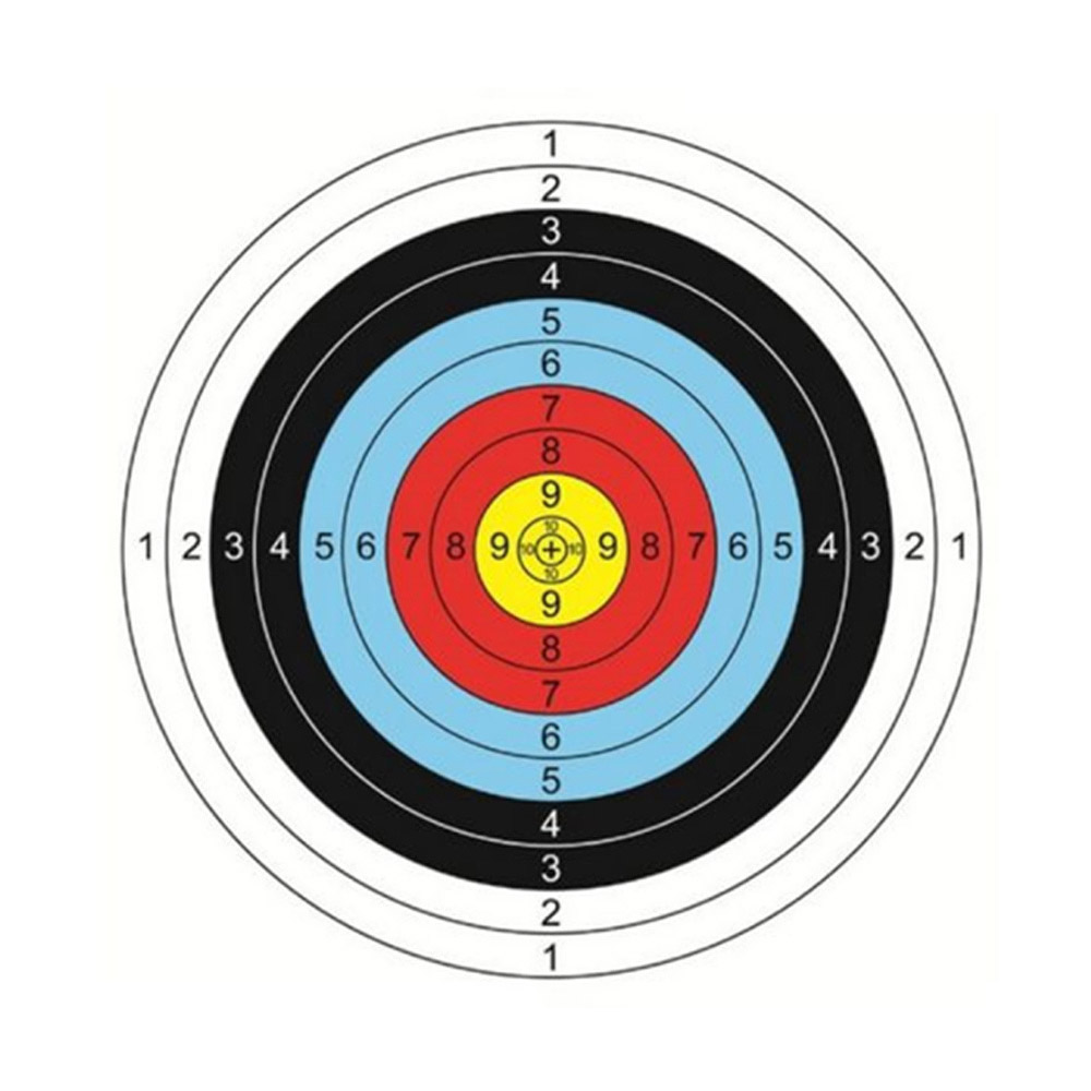 40cm 60cm Useful Profession Archery Targets Paper Full Ring Beginner Bow Arrow Gauge Shooting Target Dropshipping HOT Sale