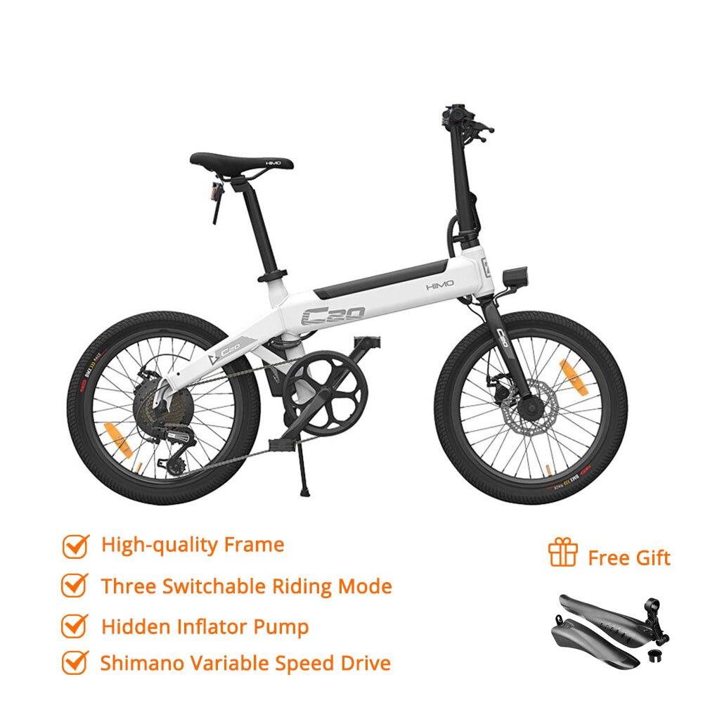 [Duty Free] HIMO C20 Pieghevole Ciclomotore Elettrico Della Bicicletta 250W Del Motore 25 km/h Nascosta Pompa di Gonfiaggio Shimano Variabile variatore di velocità