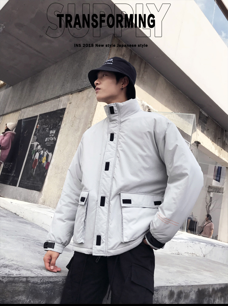 Men's Quality Student Winter Clothes Jacket Men Parka Thick Warm Outwear Korean Youth Streetwear Hip Hop Japan Style Harajuku 23