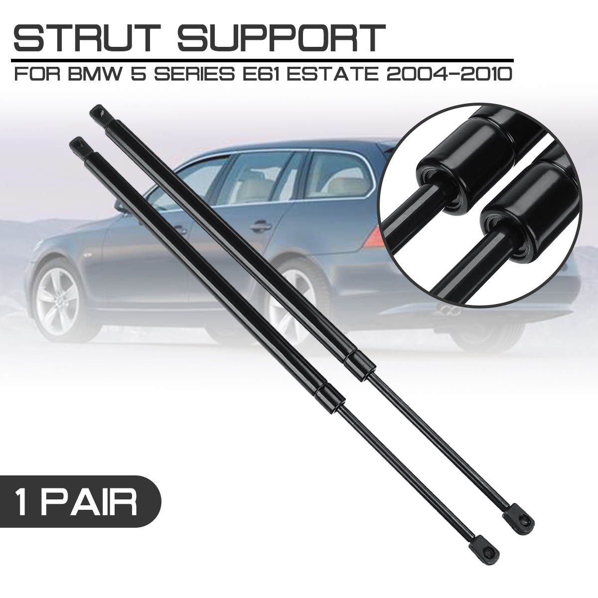 Gas Spring Tailgate Damper Boot for 5 Series Touring E61 520i 523i 525i 525xi 520d 525d 530d Estate Year 2004-2010