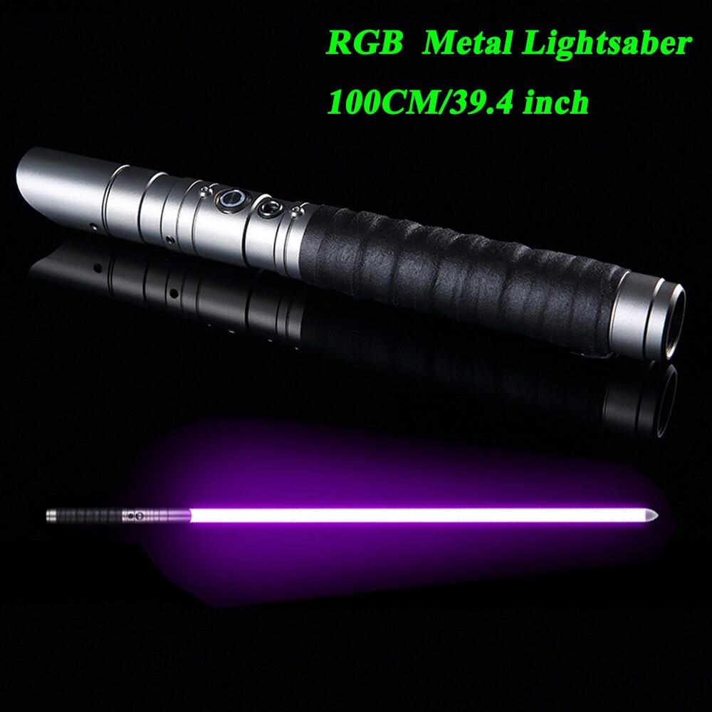LGTOY HOT RGB Lightsaber, Metal Handle Heavy Dueling, 12 Color Change Volume Adjustment Force FX  6 Soundfons FOC