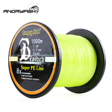 Angryfish High quality material 1000Meters 8x Braided Fishing Line 8 Colors Super PE Wear resistant