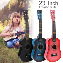 Acoustic-Guitar Pick-Wire-Strings Basswood Black Children Beginner with for And 23inch