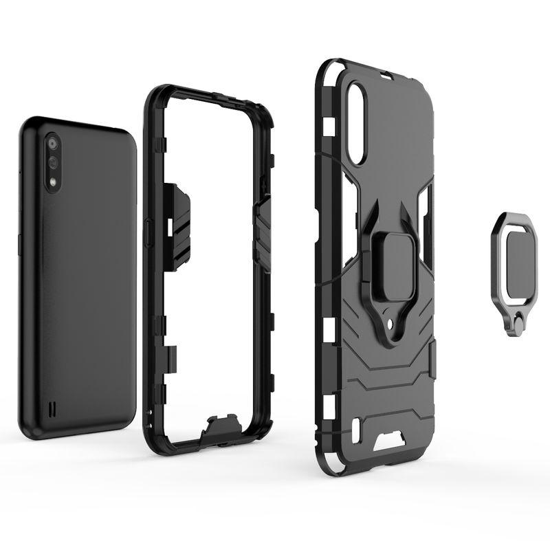 Funda de teléfono a prueba de golpes para Samsung Galaxy J4 J6 Plus J2 Pro 2018, funda protectora de anillo para Samsung A7 A8 A9 2018 Plus 4