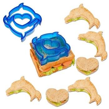 Moldes de sándwich moldes de pan DIY Animal forma dinosaurio corazón cachorro estrella pan herramientas de corte pastelería decoración sello Gadgets