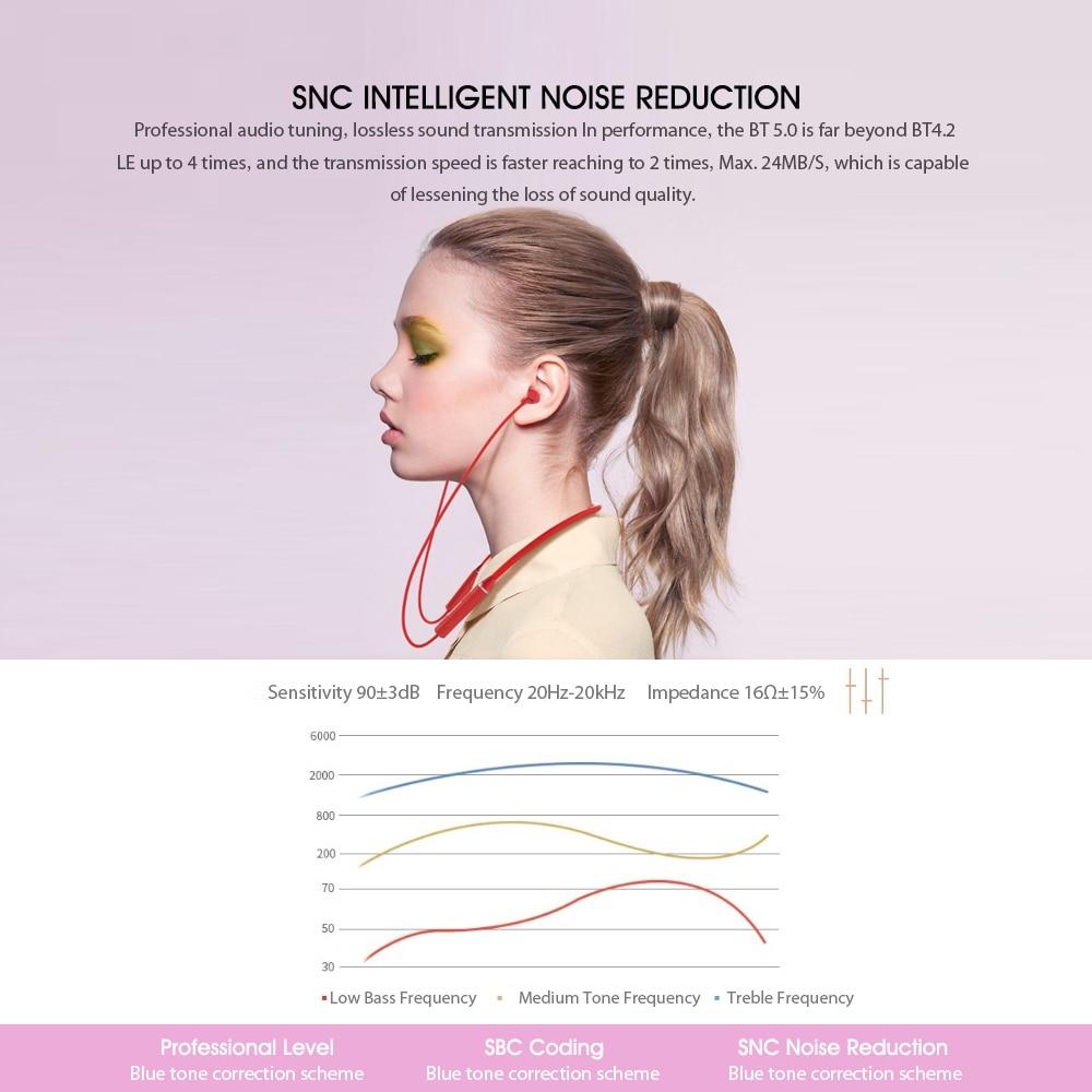 Auriculares Bluetooth Lenovo HE05, auriculares inalámbricos Bluetooth BT5.0, Auriculares deportivos a prueba de sudor IPX5 con micrófono, auriculares con cancelación de ruido