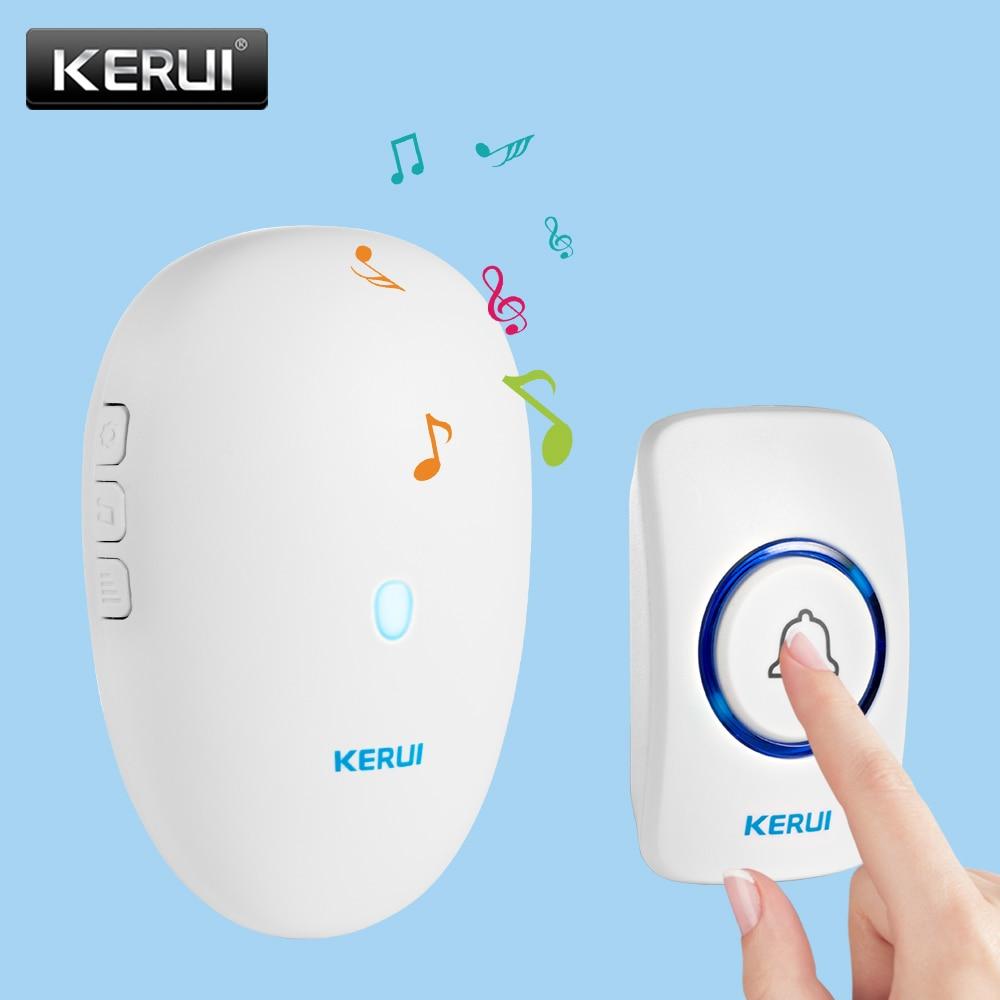 KERUI Doorbell Home Security Wireless Welcome Smart Doorbell 57 Chime 80m Remote Control EU US UK Plug Wireless Button Door Bell