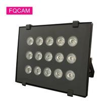 Ac 220v cheio ir led luz 15 peças infared visão noturna iluminatoring cctv lâmpada de luz de preenchimento à prova dwaterproof água para câmera cctv