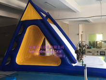 Giant Beach Inflatable Water Slide For Business Rental And Water Park outdoor commercial use giant inflatable double lane water slide with arch