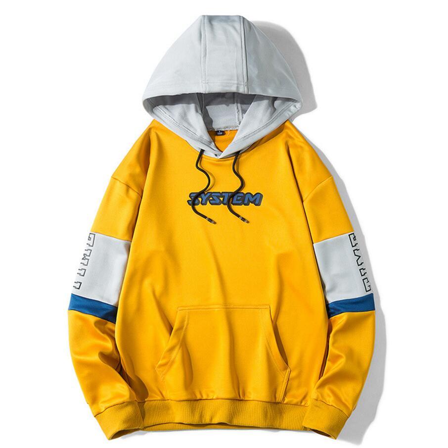 2019 Autumn Winter Men Hoodies Sweatshirt High Quality Plus Size Sweatshirt Street Loose Leisure Letter Printing Hoodies