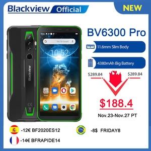 BLACKVIEW 2020 New BV6300 Pro Helio P70 6GB+128GB Smartphone 4380mAh Android 10.0 Mobile Phone NFC IP68 Waterproof Rugged Phone