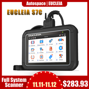 Image 1 - EUCLEIA S7C Full System OBD2 Scanner ABS EPB Airbag DPF Oil Reset ODB2 OBD 2 Code Reader With Portuguese PK MK808 Car Diagnostic