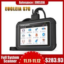 Eucleia s7c completo sistema obd2 scanner abs epb airbag dpf óleo redefinir odb2 obd 2 leitor de código com português pk mk808 carro diagnóstico