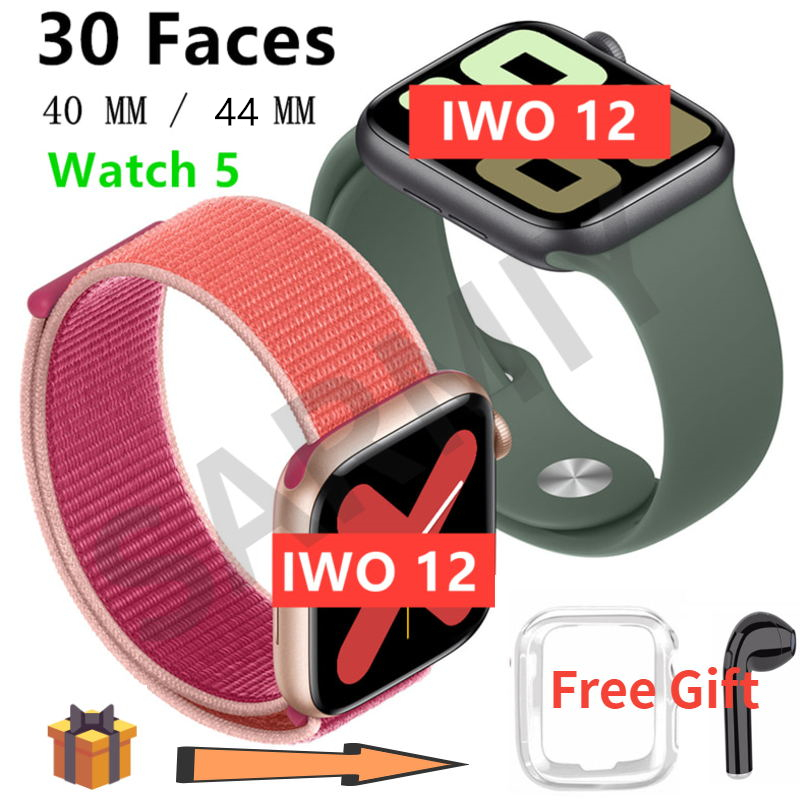 Watch 5 <font><b>iwo</b></font> 12 Men Women Bluetooth Smart Watch <font><b>1</b></font>:<font><b>1</b></font> SmartWatch 40mm 44mm Case for Apple iOS Android phone Heart Rate PK <font><b>IWO</b></font> 11 image