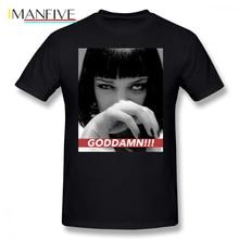 Tarantino T Shirt MIA WALLACE T-Shirt 100 Percent Cotton 6xl Tee Graphic Short-Sleeve Fun Basic Man Tshirt