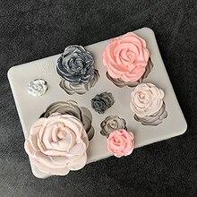 1PCS Rose Flowers silicone mold Cake Chocolate Mold wedding Decorating Tools Fondant Sugarcraft