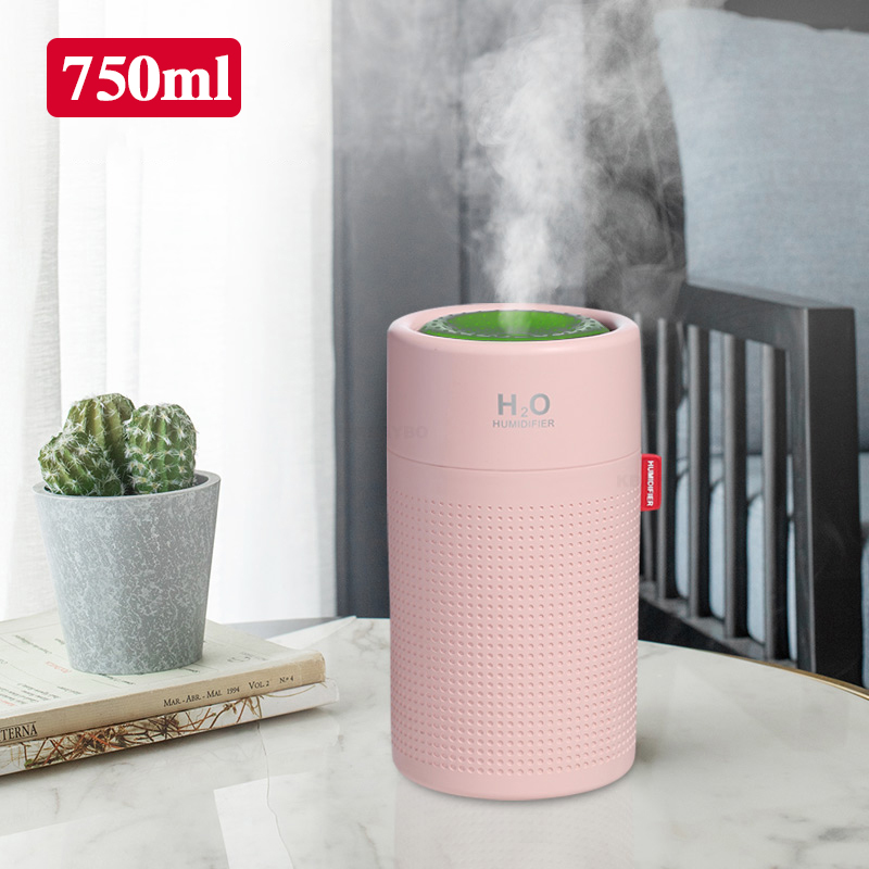 750ml  Large Capacity  USB Aroma Air Diffuser Humidifier Portable Ultrasonic Difusor Quite Heavy Cool Mist Maker