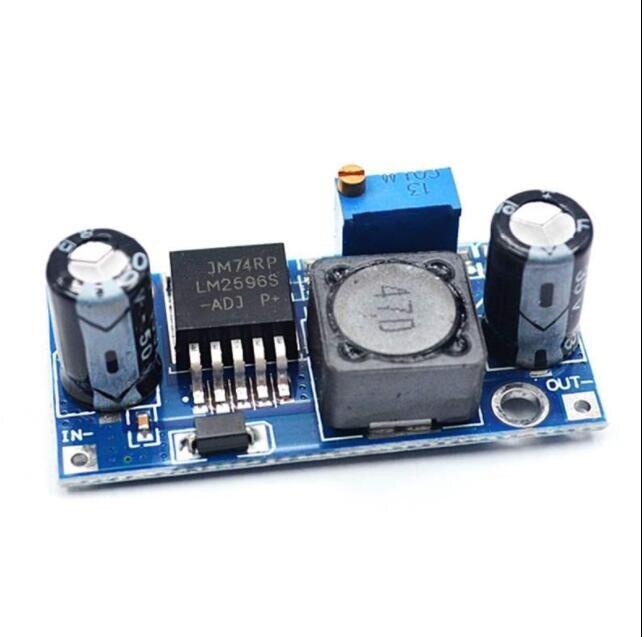1 pces lm2596s lm2596 lm2596 adj DC-DC step-down módulo 5 v/12 v/24 v ajustável 3a