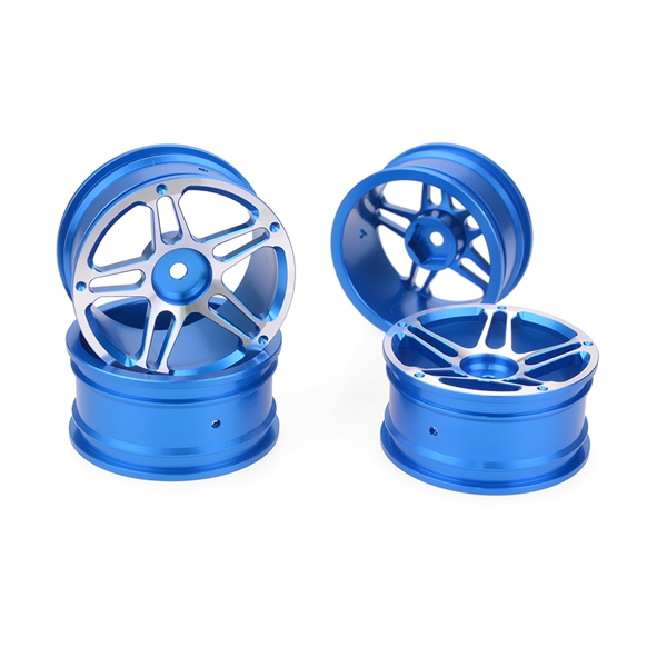 4 Pcs Aluminum Alloy Upgrade Parts Wheel Hub On-Road Accessories Model RC Drift Rims For 1:10 Racing Car