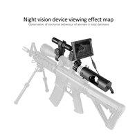 PDDHKK 850nm 3W Laser Night Vision Infrared IR Riflescope Hunting Scopes Optics Sight Tactical Waterproof 4.3 inch LCD Display