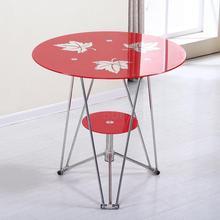 Стеклянный стол, Круглый, упрочненный, для приема, для офиса, для переговоров, для спальни, простой чайный столик, семейный стол, стул, балкон, маленький рун
