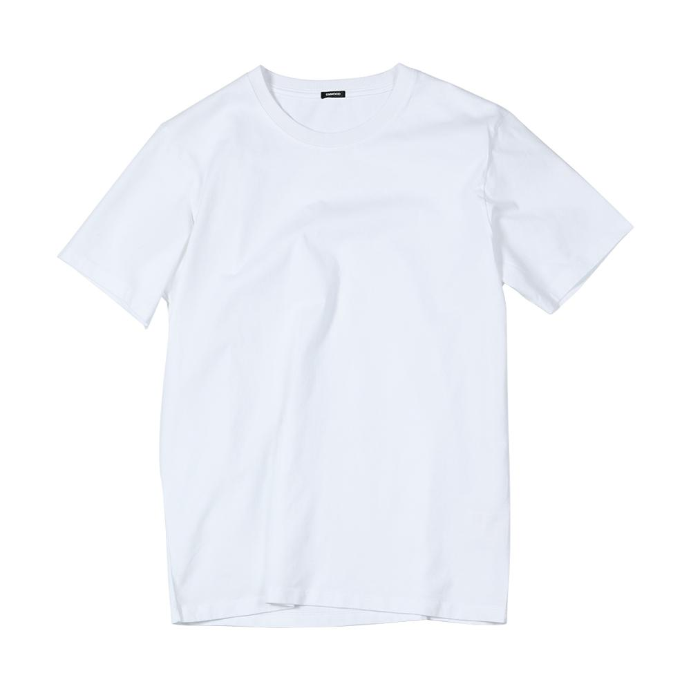 SIMWOOD 2021 Summer New 100% Cotton White Solid T Shirt Men Causal O-neck Basic T-shirt Male High Quality Classical Tops 190449 5